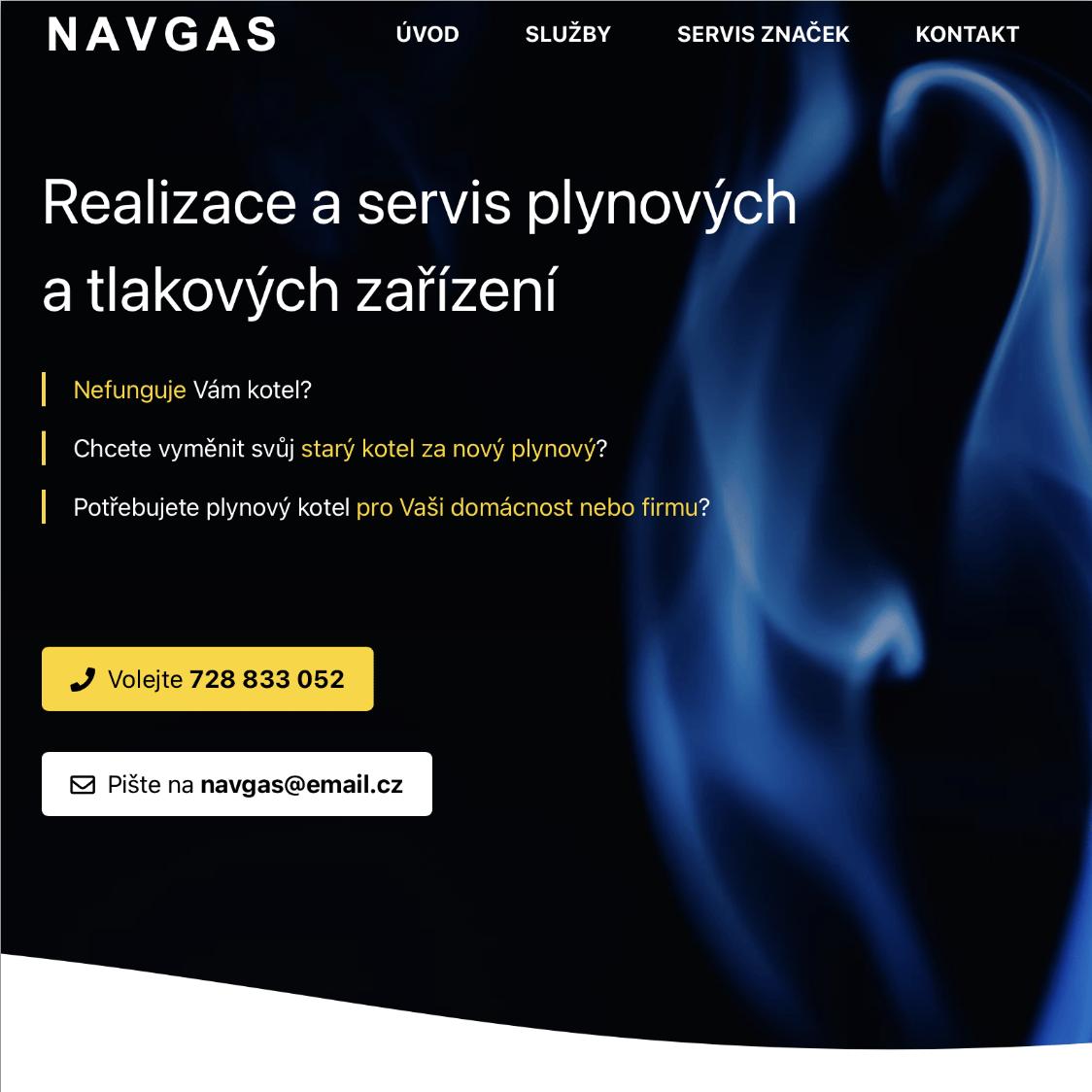 Nový web vizitka Navgas s.r.o.